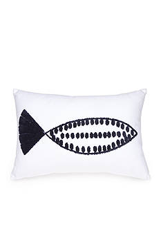 Elise & James Home™ Towel Stitch Fish Pond Decorative Pillow