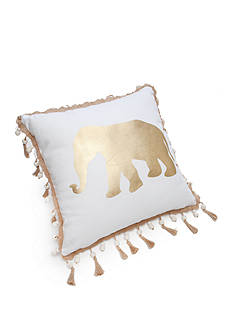 Elise & James Home™ Twine Tassel Gold Elephant Decorative Pillow