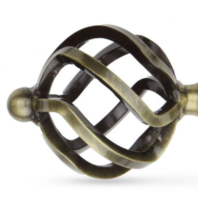 Window Hardware: Antique Brass Rod Desyne™ TWIST 13/16 2848 ANT BRS