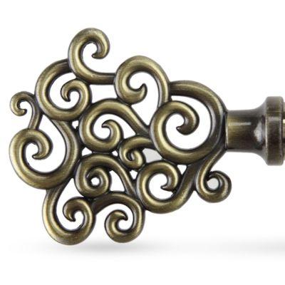 Window Hardware: Antique Brass Rod Desyne™ TIDAL 13/16 66120 ANT BRS