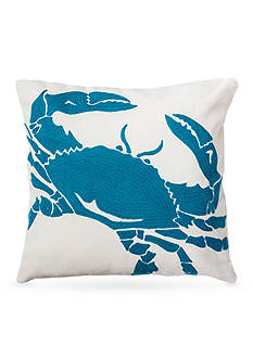 C&F Crab Aqua Decorative Pillow