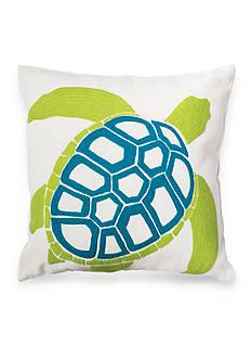C&F Turtle Aqua Decorative Pillow