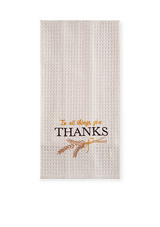 C&F In All Things Give Thanks Kitchen Towel