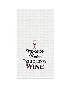 C&F Step Aside Water, This is A Job For Wine Kitchen Towel