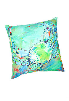 C&F Underwater Blue Crab Decorative Pillow