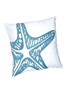 C&F Starfish Rice Stitch Decorative Pillow