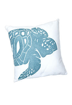 C&F Turtle Rice Stitch Decorative Pillow
