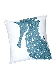 C&F Seahorse Rice Stitch Decorative Pillow