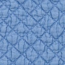 Table Linens and Placemats: Blue C&F YLLW PM QLT SCALLOP