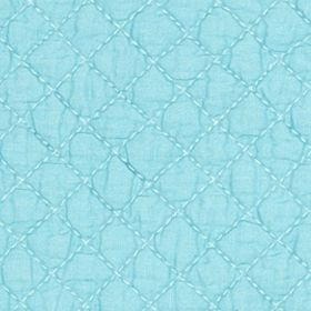 Table Linens and Placemats: Aqua C&F AQUA PM QLT SCALLOP