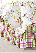 Priscilla Plaid Twin Bedskirt 39-in. x 76-in. + 18-in. drop