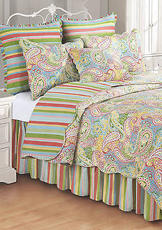 C&F Bright Paisley Quilt Collection