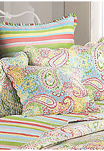 Bright Paisley Square Pillow 20-in. x 20-in.