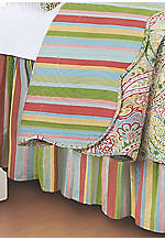 Bright Paisley Twin Bedskirt 14-in. drop