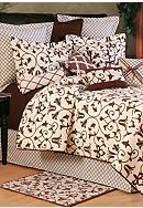 C&F Seraphina Brown Quilt Collection - Online Only