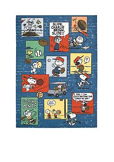 Nourison Peanuts Sports Fan Blue Rug (5' x 7')