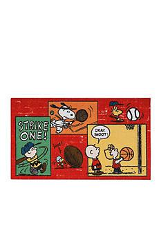 Nourison Peanuts Sports Fan Red Rug (2'2