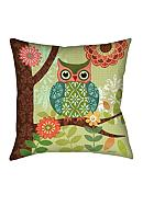 Manual Woodworkers Forest Owl Square Decorative Pillow - Online Only