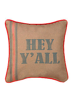 Manual Woodworkers Hey Y'all Decorative Pillow  - Online Only
