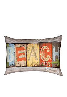 Manual Woodworkers Life at the Beach Decorative Pillow - Online Only