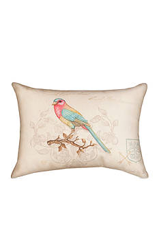 Manual Woodworkers Vintage Bird Decorative Pillow