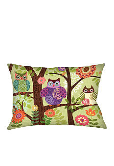 Manual Woodworkers Forest Owls Decorative Pillow - Online Only