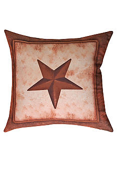 Manual Woodworkers Abilene Ranch Star Decorative Pillow