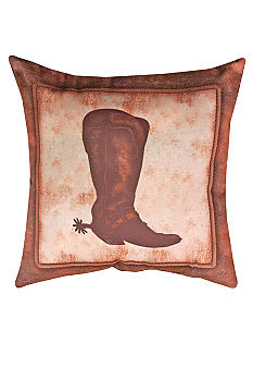 Manual Woodworkers Abilene Ranch Boot Decorative Pillow