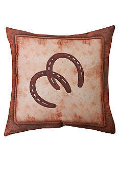 Manual Woodworkers Abilene Ranch Horseshoes Decorative Pillow