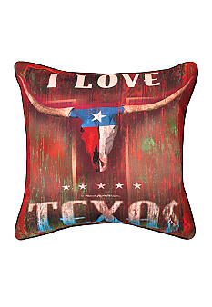 Manual Woodworkers I Love Texas Decorative Pillow - Online Only