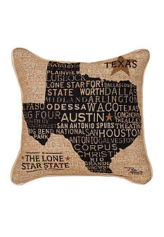 Manual Woodworkers Texas Decorative Pillow - Online Only
