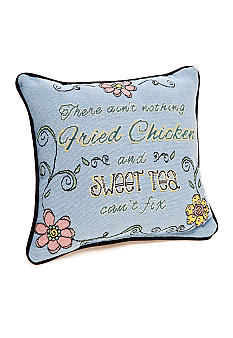Manual Woodworkers Fried Chicken & Sweet Tea Decorative Pillow
