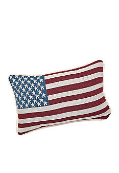 Manual Woodworkers American Flag Decorative Pillow