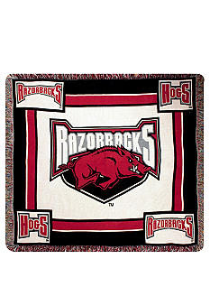 Manual Woodworkers Arkansas Razorbacks Tapestry Throw