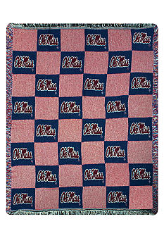 Manual Woodworkers Ole Miss Rebels Throw