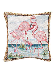 Manual Woodworkers Flamingo Bay Decorative Pillow