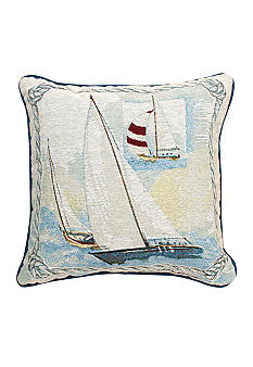 Manual Woodworkers Sailing Away Decorative Pillow