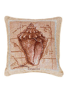 Manual Woodworkers Sea Treasure Conch Decorative Pillow