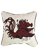 South Carolina Gamecocks Tapestry Decorative Pillow