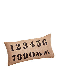 Newport Numerical Decorative Pillow