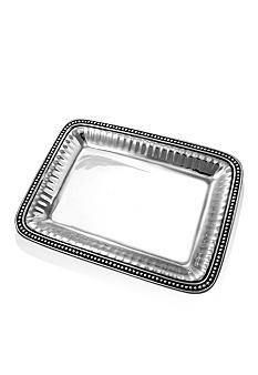 Wilton Armetale Flutes & Pearls 14-in. Rectangular Tray