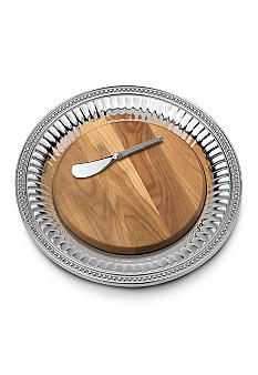 Wilton Armetale Flutes & Pearls Medium Round Cheeseboard