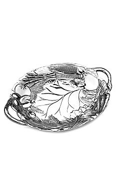 Wilton Armetale Vegetable 20-in. Oval Tray with Handles