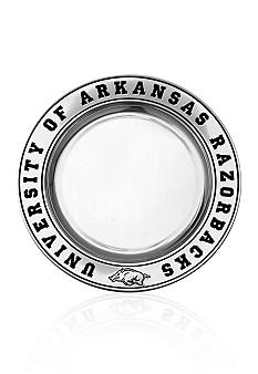 Wilton Armetale Arkansas Razorbacks Small Round Tray
