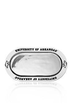 Wilton Armetale Arkansas Razorbacks Large Oval Tray