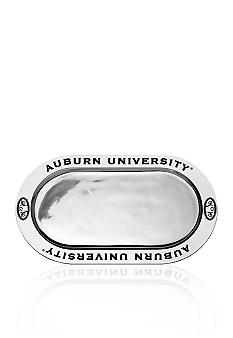Wilton Armetale Auburn Tigers Large Oval Tray