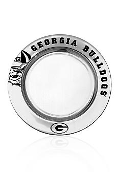 Wilton Armetale Georgia Bulldogs Small Round Tray