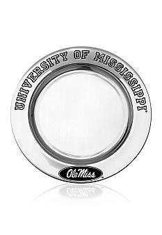 Wilton Armetale Ole Miss Rebels Small Round Tray