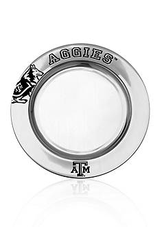 Wilton Armetale Texas A & M Aggies Small Round Tray