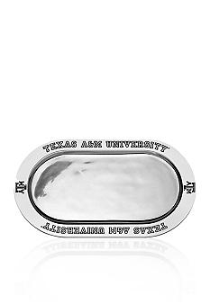 Wilton Armetale Texas A&M Aggies Large Oval Tray